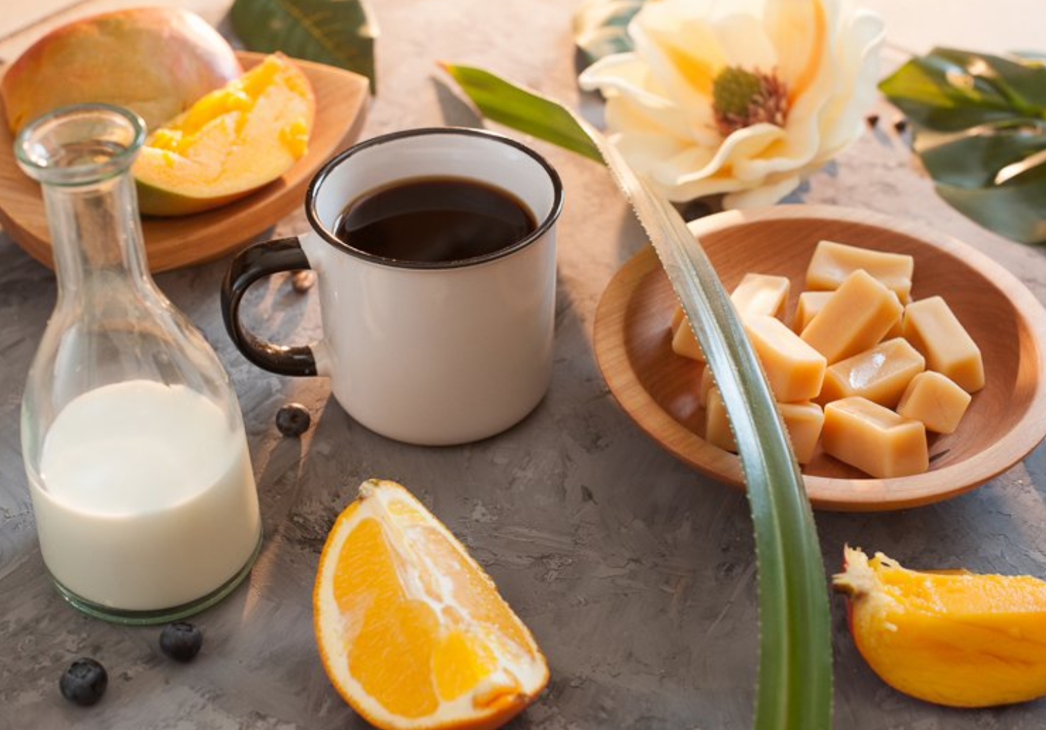 Brazilian coffee with orange juice
