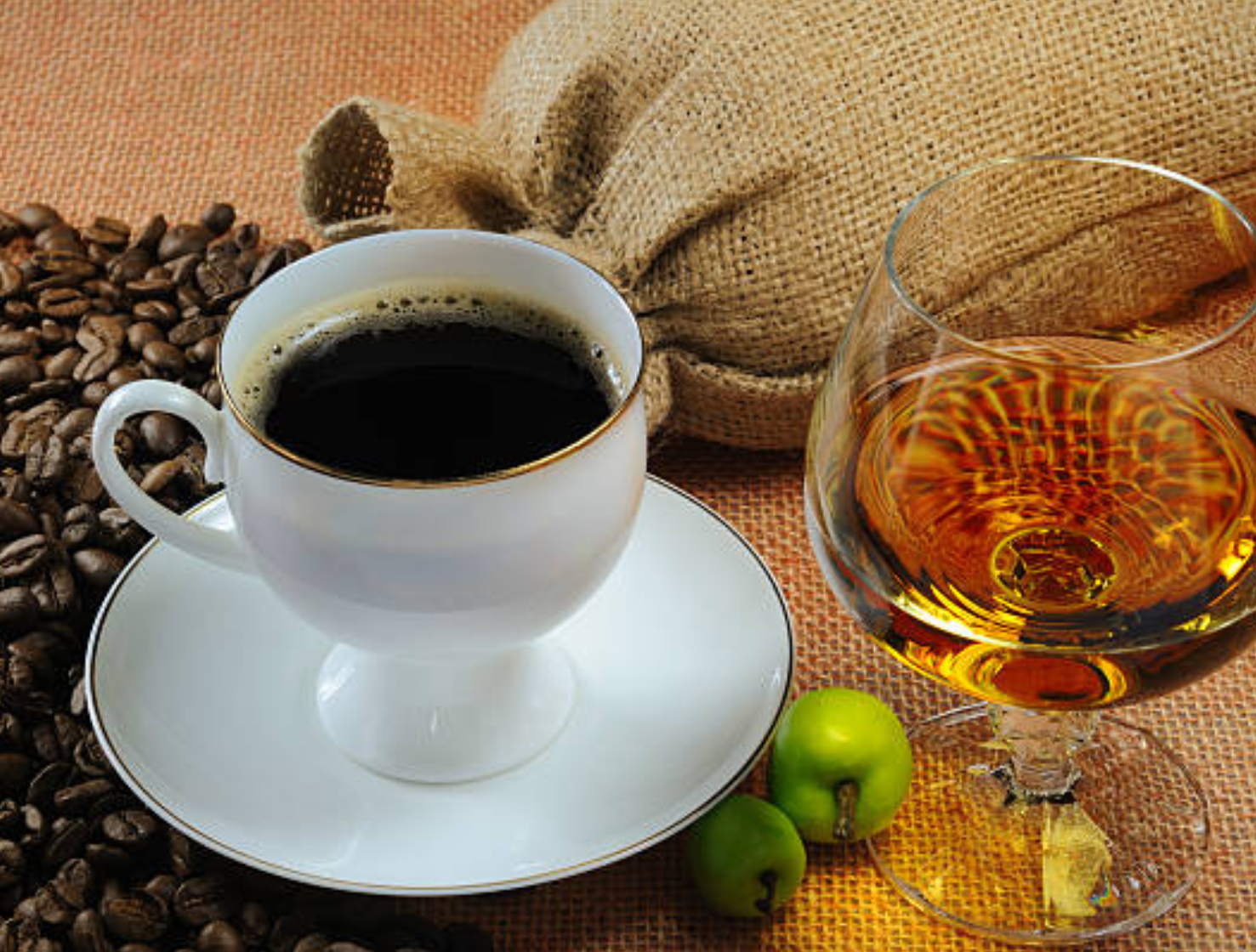Recipe for coffee with cognac: