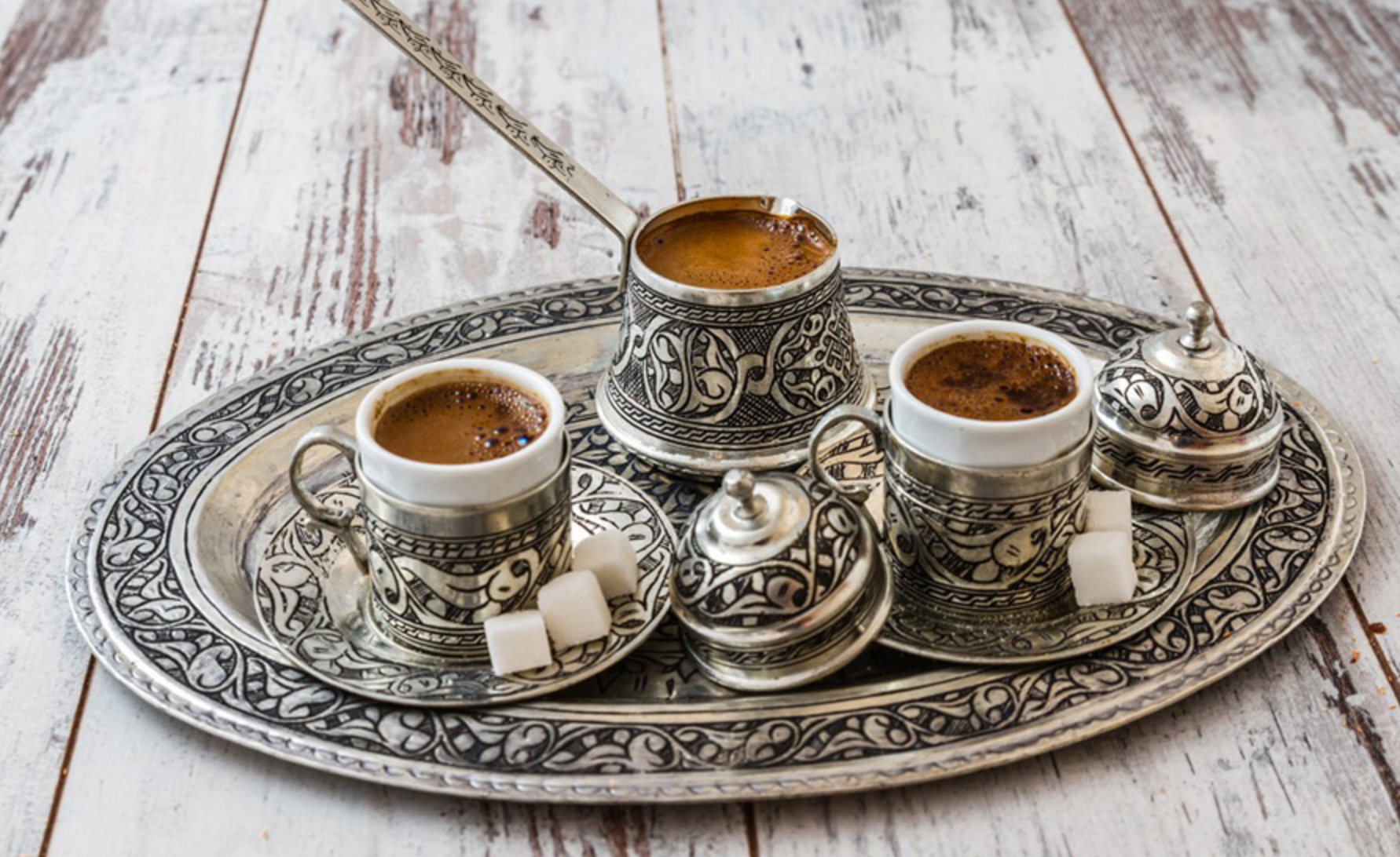 You have probably tasted this kind of coffee, or at least heard about it.  Turkish coffee is drunk in various parts of the world, but most of all, as the name suggests, is loved in Turkey, the countries of the Middle East and Eastern Europe.  It is a drink with a rich history, the recipe of which has changed little over the past 400 years.  The method for its preparation is quite simple. It is necessary to boil water with sugar, then add coffee, grated cardamom, and boil again. Before pouring coffee, you need to let it brew a little until froth appears, and then serve in small cups.  To enjoy the taste of coffee, you need to drink it slowly.